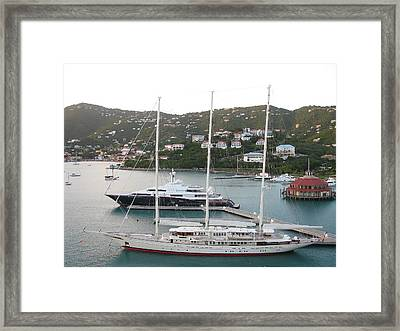 Yachts In St. Thomas Framed Print by Steven Parker