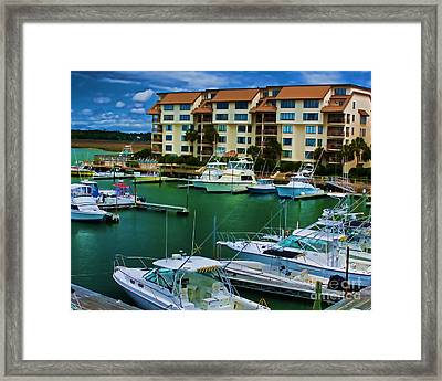 Yachts Of The Rich And Famous Framed Print by Dave Bosse