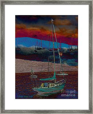 Framed Print featuring the photograph Yachts On The River by Leanne Seymour
