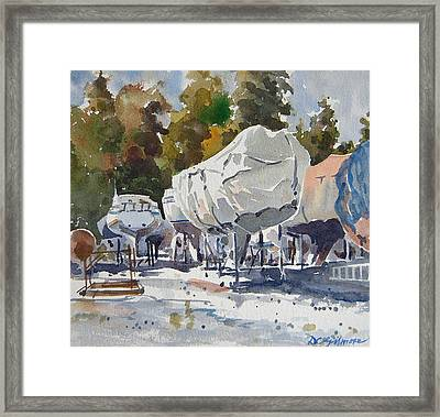 Yachts Under Wrap Framed Print