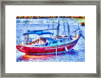 Boating - Coastal - Yachtsman's Dream Framed Print by Barry Jones