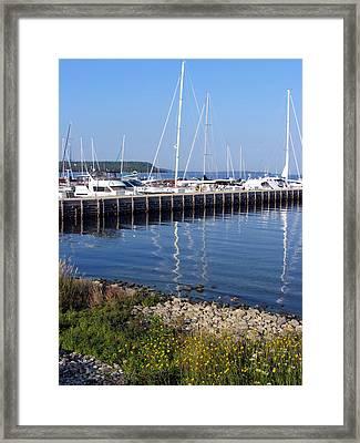 Yachtworks Marina Sister Bay Framed Print