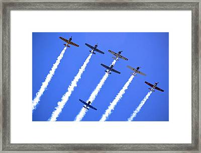 Yak 52 Formation Framed Print by Phil 'motography' Clark