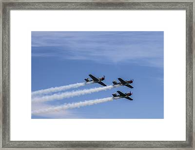 Yak 52 Tw By Three Framed Print