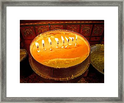Yak Butter Candles In  Sera Monastery In Lhasa-tibet Framed Print by Ruth Hager