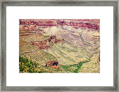 Yaki Point View Of The Grand Canyon Framed Print by Bob and Nadine Johnston