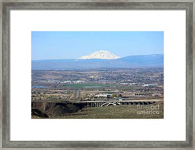 Yakima Valley Outlook With Mount Adams Framed Print by Carol Groenen
