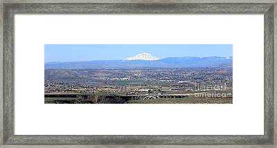 Yakima Valley Panorama Framed Print by Carol Groenen