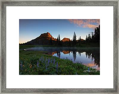 Yakima Peak Sunrise Framed Print by Mike  Dawson