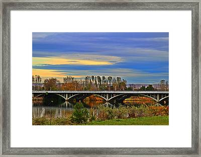 Yakima River Bridge Framed Print by Lynn Hopwood