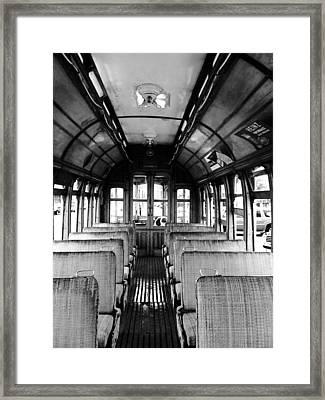 Yakima Trolley Framed Print by Whitney Nanamkin
