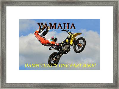 Yamaha One Fast Bike Framed Print by David Lee Thompson