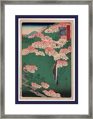 Yamato Yoshinoyama Framed Print by Utagawa Hiroshige Also And? Hiroshige (1797-1858), Japanese