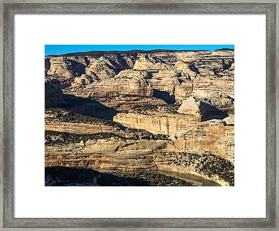 Yampa River Canyon In Dinosaur National Monument Framed Print