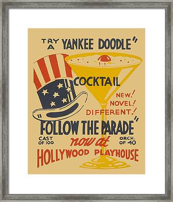 Framed Print featuring the painting Yankee Doodle Cocktail by American Classic Art