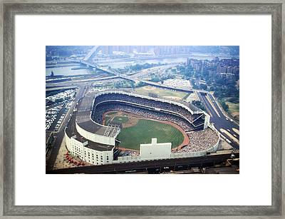 Yankee Stadium Aerial Framed Print by Retro Images Archive
