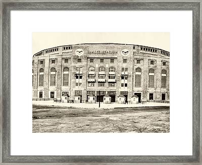 Yankee Stadium Framed Print by Bill Cannon