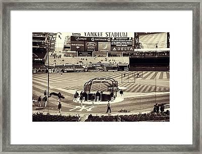 Yankee Stadium Framed Print by CD Kirven
