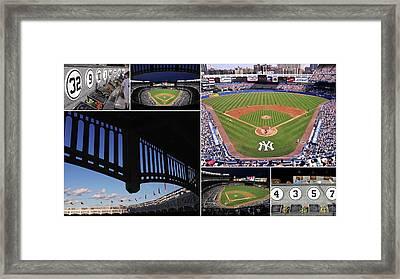 Yankee Stadium Collage 3 Framed Print by Allen Beatty