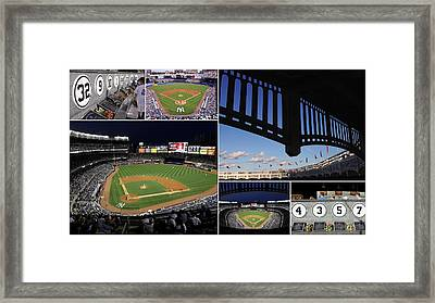 Yankee Stadium Collage Framed Print