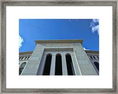 Yankee Stadium Main Entrance Framed Print by Allen Beatty