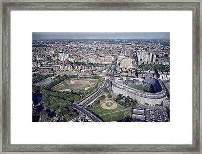 Yankee Stadium Framed Print by Mountain Dreams