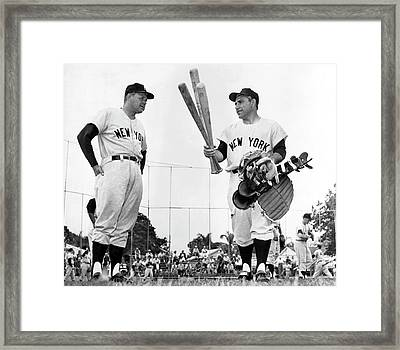 Yankee Yogi Berra Framed Print by Underwood Archives