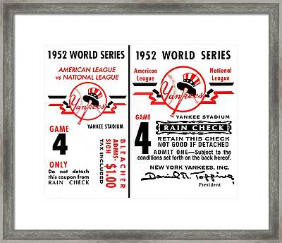 Yankees 4th Straight - Modern Framed Print by Benjamin Yeager