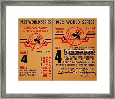 Yankees 4th Straight - Vintage Framed Print