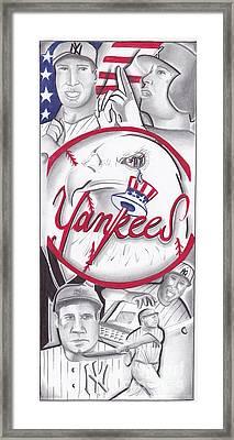 Yankees Best Framed Print by Tasha Clarke