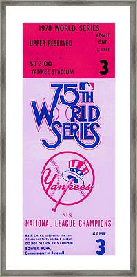 Yankees In 6 Framed Print