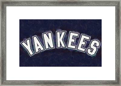 Yankees On Canvas Framed Print by Dan Sproul