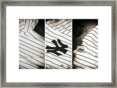 Yankees Panels Framed Print by John Rizzuto