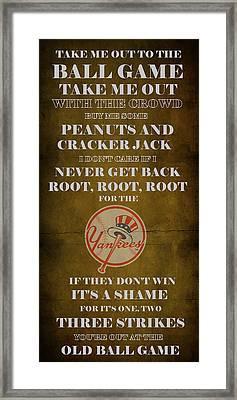 Yankees Peanuts And Cracker Jack  Framed Print