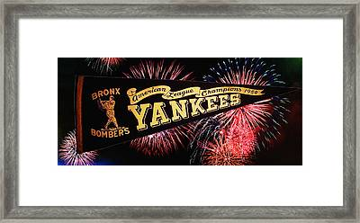 Yankees Pennant 1950 Framed Print by Bill Cannon