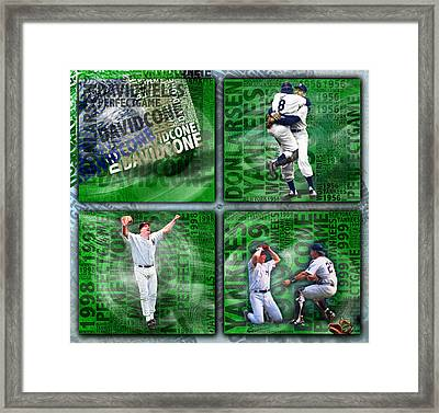 Yankees Perfect Game Combo Larsen Wells Cone Framed Print