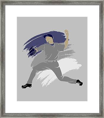 Yankees Shadow Player Framed Print by Joe Hamilton