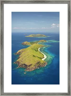 Yanuya Island, (and Tavua Island Framed Print by David Wall