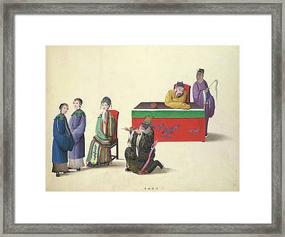 Yao Ch'i Is Beheaded By Mistake Framed Print