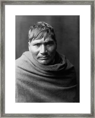 Yaqui Man Circa 1907 Framed Print by Aged Pixel