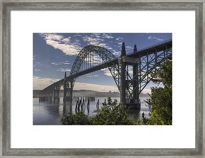 Yaquina Bay Bridge Framed Print by Mark Kiver