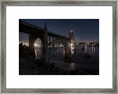 Yaquina Bay Bridge - Newport Oregon Framed Print by Daniel Hagerman