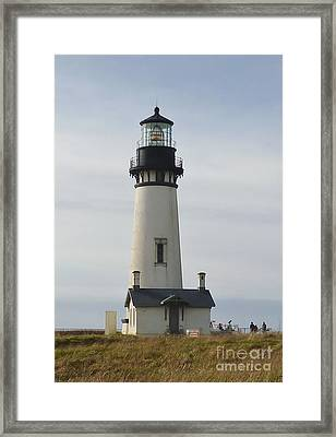 Yaquina Bay Lighthouse Framed Print by Susan Garren