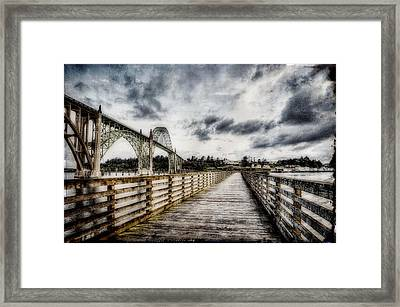 Yaquina Bay Pier Framed Print