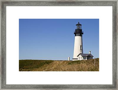 Yaquina Head Lighthouse 3 Framed Print by David Gn