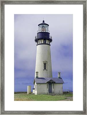 Yaquina Head Lighthouse Framed Print by Dennis Bucklin