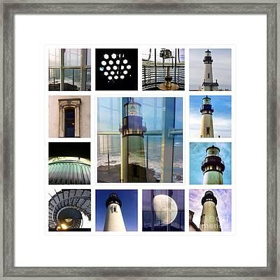 Yaquina Head Lighthouse Essence  Framed Print by Susan Garren