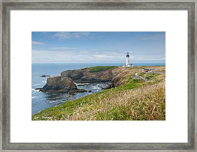 Framed Print featuring the photograph Yaquina Head Lighthouse by Jeff Goulden