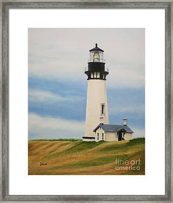 Yaquina Head Lighthouse Framed Print