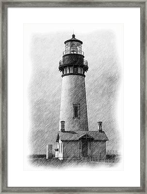 Yaquina Lighthouse Framed Print by Dennis Bucklin